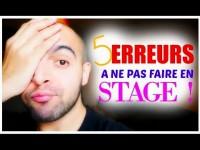LES 5 ERREURS À NE PAS FAIRE EN STAGE D'AIDE SOIGNANT